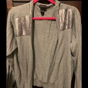 3x grey torrid cardigan